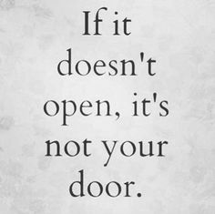 If it doesn't open, its not your door