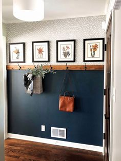 Simple & Affordable Fall Entryway - A special thanks to Walmart for sponsoring . , Simple & Affordable Fall Entryway - A special thanks to Walmart for sponsoring this post. Fall colors are my absolute favorite – If y - Fall Entryway, Entryway Decor, Wall Decor, Entryway Ideas, Foyer, Wall Mural, Apartment Entryway, Apartment Ideas, Nautical Entryway