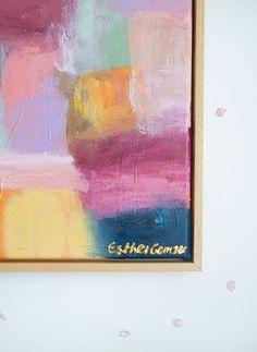 Esther Gemser Art | Abstract schilderij verkoop Utrecht Den Haag Rotterdam Amsterdam | Gezien bij Vt wonen Amsterdam, Seth Godin, Utrecht, Pastels, Close Up, Canvas, Painting, Art, The Hague