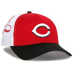 Cincinnati Reds New Era Logo Stretch 39THIRTY Performance Flex Hat -  White Black New Era 78b5805133f1
