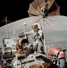 Astronaut Gene Cernan during the Apollo 17 mission. beautifulwarbirds@gmail.com @thomasguettler Beautiful Warbirds Full Afterburner The Test Pilots P-38 Lightning Nasa History Science Fiction World Fantasy Literature & Art