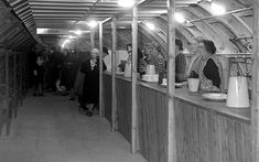 """1940. Women willing to entertain those wishing to tea in the underground shelter to """"Anson"""" station"""