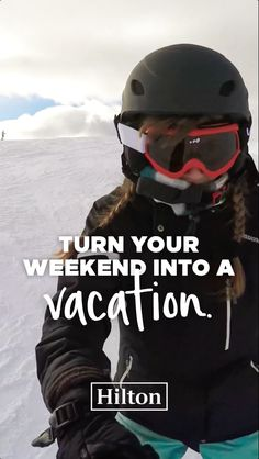 There's a vacation at the end of each week. Book your weekend vacation now at Hilton.com