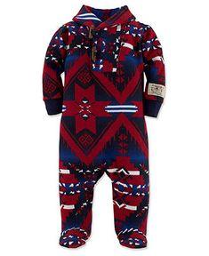Ralph Lauren Baby Coverall, Baby Boys Southwestern Sleep & Play - Kids - Macy's