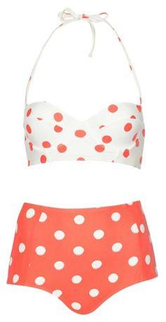 cute polka dot bikini  http://rstyle.me/n/juncvpdpe