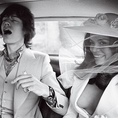 Mick Jagger and Bianca Pérez-Mora Macias wed at the Town Hall in St.-Tropez before 100 cameramen and journalists, and then held a service at St. Anne's church on May 12, 1971\. Bianca wore a white wedding suit and hat designed by Yves Saint Laurent. The reception was at Café des Arts. After the party, the couple left on the yacht Romeang for a ten-day honeymoon cruise around Corsica and Sardinia.