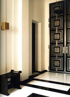 Entry hall by Pierre Yovanovitch