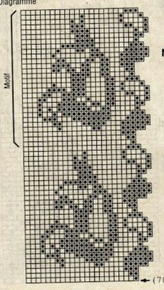 Instagram. PICTURE ONLY. Filet crochet diagram