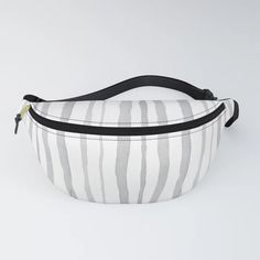 Simply sweet Grey Watercolour Stripes on Fanny Packs by floatinglemonsart Chapstick Holder, Everyday Look, Fanny Pack, Watercolour, Diaper Bag, Packing, Stripes, Grey, Stuff To Buy