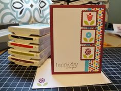 Bright Blossom make and take by lizzier - Cards and Paper Crafts at Splitcoaststampers