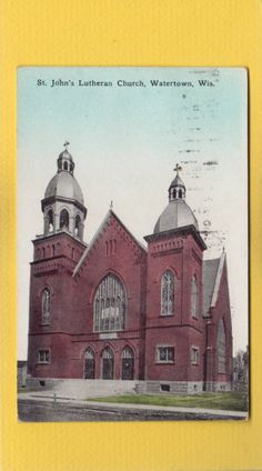 Watertown,WI Wisconsin St.John's Lutheran Church