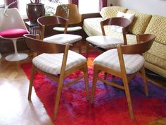 San Francisco:  Mid-Century Dining Chairs by Dux $717 - http://furnishlyst.com/listings/4125 #vintage #furniture #MCM