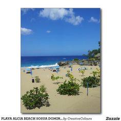 PLAYA ALCIA BEACH SOSUA DOMINICAN REPUBLIC SURF OC POSTCARD