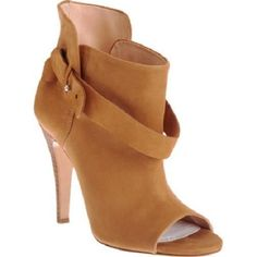 $1040 MAISON MARTIN MARGIELA Open Toe Booties 39 Tan, as seen on Katie Holmes #MaisonMartinMargiela #FashionAnkle