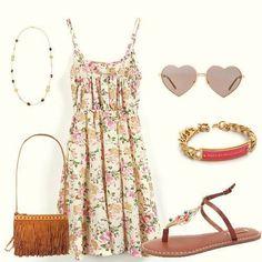 Outfit vestidos de flores