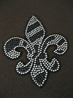 55 H x 45 W Striped Fleur De Lis Patch by XOXOBLING on Etsy, $6.99