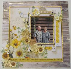 Together - Kaisercraft - Golden Grove Collection Scrapbook Page Layouts, Scrapbook Cards, Scrapbooking Ideas, Heritage Scrapbooking, When You Love, Love And Marriage, Scrapbooks, Mini Albums, Paper Crafts