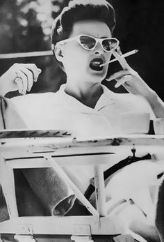 Bette Davis on the set of Now, Voyager (1942)