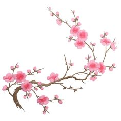 Amazon.com: Mimgo Store Beautiful Embroidered Plum Blossom Flower Patch Decor on Applique Motif Craft (Peach): Arts, Crafts & Sewing