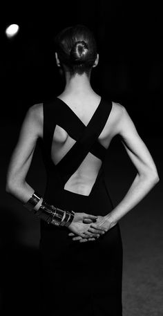 Classic Elegance - dress back detail; black & white fashion photography // Alexandre Vauthier Spring 2014