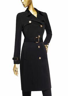 VERSACE | DV Black Trench Coat | Jackets & Coats | Womenswear | Women | Shop at us.versace.com - official Versace online shop