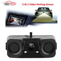 Car Video 3in1 170°car Visual Reversing Rear View Camera With Radar Parking Sensor Ture 100% Guarantee Consumer Electronics