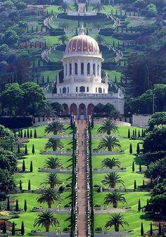 The Bahá'í Gardens in Haifa and 'Akko, Israel.