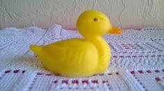 Fenton Miniature Duck Duckling Natural Yellow Opal Satin Glass Figurine