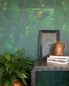 This Just In: Sarah & Ruby Design Studio's Hand Painted Wallpaper Hand Painted Wallpaper, Painting Wallpaper, Justina Blakeney, Pretty Bedroom, Thrown Pottery, Everyday Objects, Handmade Home, Colorful Interiors, Color Inspiration