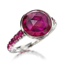 21st century jewellery designers | Rose-Cut Ruby Ring by Hemmerle