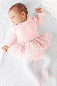 Buy Pink Tutu Bodysuit And Tights Two Piece Set (0-18mths) from the Next UK online shop
