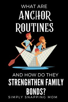 Anchors are routines, habits, and traditions that intentionally connect you (or anchor you) to your family. Strengthen your family bond with weekly, daily, and monthly family traditions by using these simple positive parenting tips. #intentionalparenting #anchorroutines #familybond #raisinghappykids #positiveparenting #strongfamily #familyactivities #activitiesforfamilies #activities #family #bond #strong #anchor Parenting Quotes, Kids And Parenting, Parenting Hacks, Happy Mom, Happy Kids, Guilt Quotes, Family Bonding, Quotes About Motherhood, Family Traditions