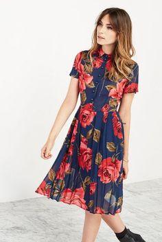 vestido midi rodado florido