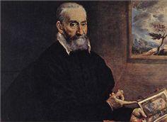 61. Portrait of Giulio Clovio - El Greco. Sigue en el retrato los o modelos venecianos de Tiziano y Tintoretto.