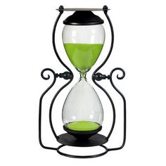 Vintage Decor on a Chic Budget - sand hourglass minutes) Hourglass Sand Timer, Zen Room, Sand Timers, Beyond The Rack, Magnifying Glass, Vintage Decor, Retro Vintage, Home Accents, Home And Living