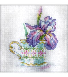 RTO Iris Tea Party Counted Cross Stitch Kit
