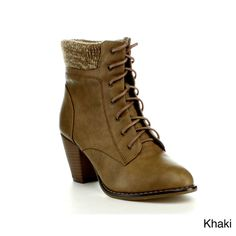 Anna MEL-12 Women's Chunky Heel Ankle Boots