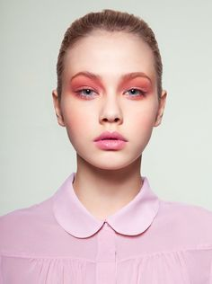 soft-pink matte eyeshadow #CartonMagazine