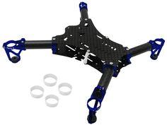 Rakon RKH 135 Quad-X CNC Kit 03 (Blue) - RKH 135RQX982-B  Add some MMW motors and away you go!!!