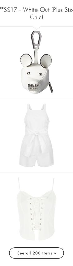 """***SS17 - White Out (Plus Size Chic)"" by foolsuk ❤ liked on Polyvore featuring bags, wallets, handbags, shoulder bags, leather shoulder bag, shoulder strap handbags, leather crossbody purse, white leather shoulder bag, leather crossbody and intimates"