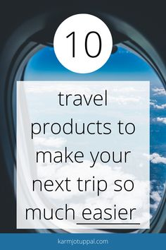 In this post we will talk about 10 Travel Products to make your next trip so much easier #travel #musthavetravel #travelgear #travelmusthave #travelamazonfinds #ultimatetravelgoods Travel Must Haves, Travel Tips, Make It Yourself, Easy, How To Make, Travel Advice, Travel Hacks