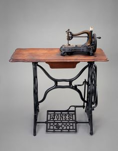 Sewing machine with treadle c. 1880s ; Jones; England; Collection of the Museum of American Heritage, Palo Alto, CA ; 4M.020