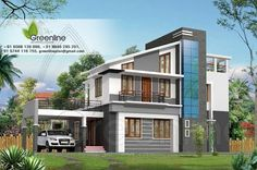 Modern Villa 3D Elevation for your 1925 sq ft for your dream home