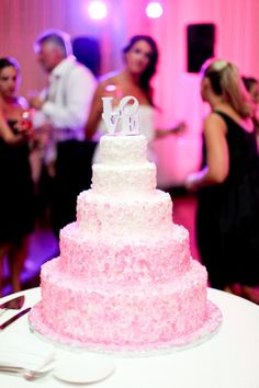 #2 pink white ombre cake, love the variations in the icing color