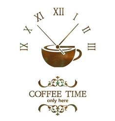 "WALL STENCILS PATTERN 12.99""x9.05"" Airbrush STENCIL LARGE TEMPLATE coffee time #JBOUTIQUESTENCILS"