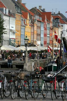 Copenhagen, Denmark. Most bicycle friendly city in the world.