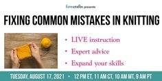 Knitting Tutorials, Easy Knitting, Learn How To Knit, Making Mistakes, Tuesday, Arm, Join, Learning, Crafts