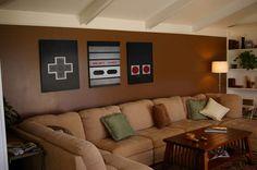 Nintendo Art NES Controller Print Set by PJDesignIllustration