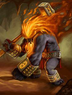 Hefesto - Deus do fogo, da forja e da metalurgia.  Hefesto é caracterizado por ser coxo, porém, muito forte e inteligente. É casado com Afrodite, que o trai regularmente com Ares, o deus da guerra. É muito bom com metais e forja armas incríveis para os outros deuses.