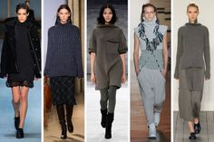 Fall 2015 Trends: RIBBED KNITS - From left to right: Diesel Black Gold, Fay, Charlotte Ronson, Baja East and 1205.